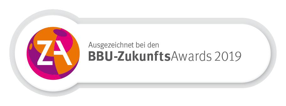 Ausgezeichnet bei den BBU-ZukunftsAwards 2019